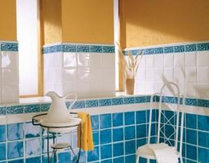 baie albastru alb galben
