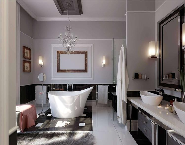 baie de lux alb negru