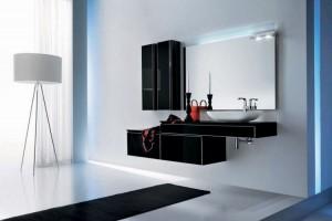 alb negru modern mobila