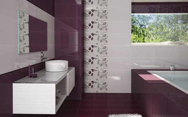 amenajare baie violet