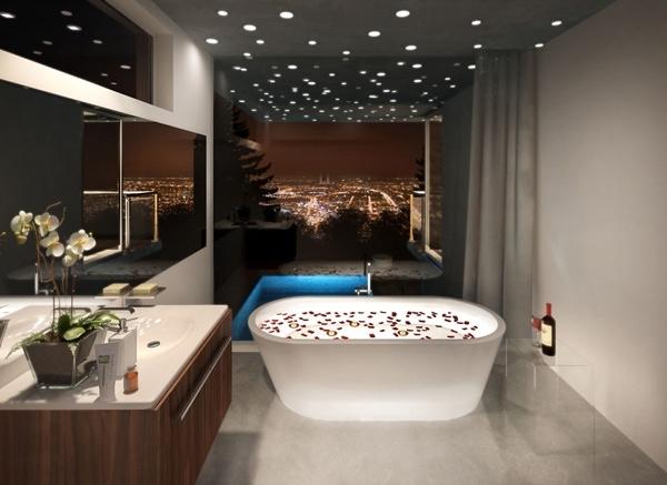 tavan negru baie