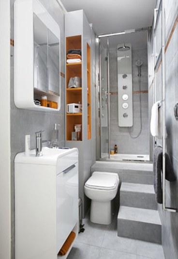 Sfaturi la amenajarea bailor mici de apartament sau garsoniera - Amenager une salle de bain en longueur ...