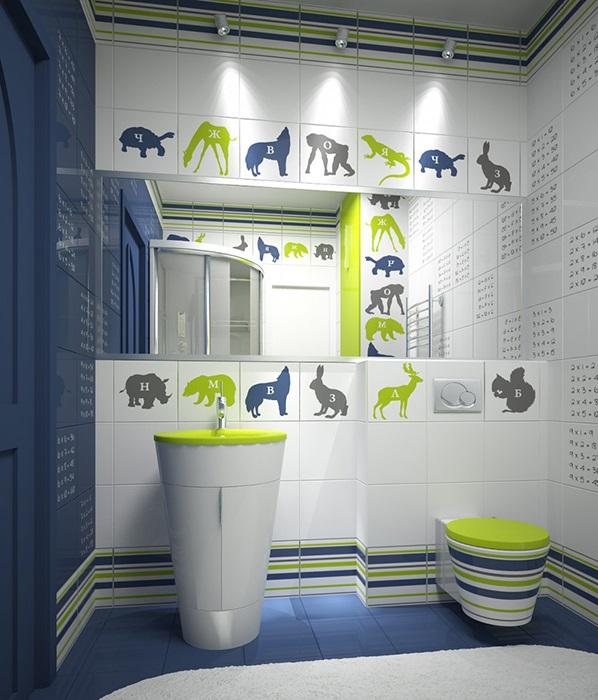 baie copii verde alb albastra