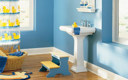 albastru baie copii
