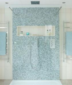 mozaic albastru marin