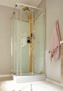 model cabina sticla