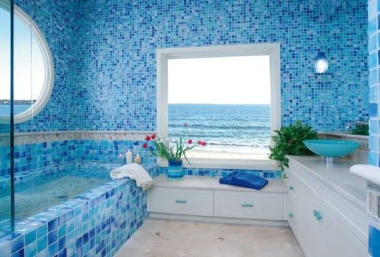 sapte bai cu mozaic albastru amenajate superb designbaie ro 44 sea inspired bathroom d 233 cor ideas digsdigs