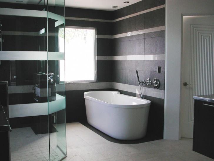 baie-alb negru moderna
