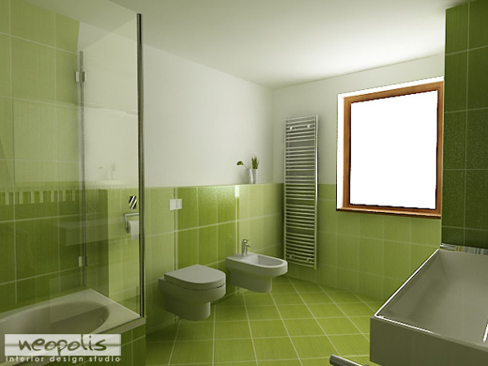 Green Color Bathroom Decorating Ideas: Alege Verde In Baie Si Vei Avea De Castigat