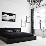 Dormitoare alb negru 7