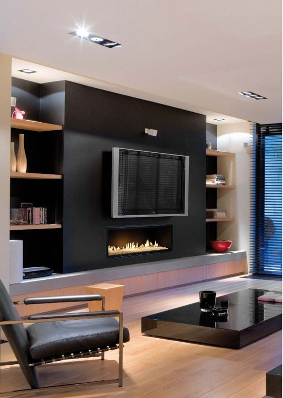 idei de semineu in living poze. Black Bedroom Furniture Sets. Home Design Ideas