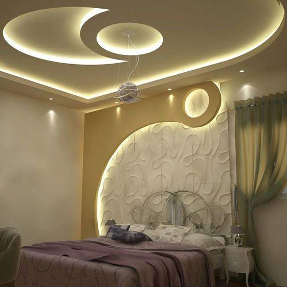 Modern Bedroom Ceiling Decorations Emo Bedroom Decor Bedroom Ideas For Young Adults Men Zombie Bedroom Ideas: Modele Noi De Tavane Din Rigips Pentru Dormitor : Poze