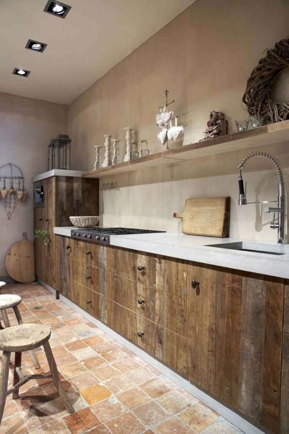 bucatarii rustice moderne modele idei poze. Black Bedroom Furniture Sets. Home Design Ideas
